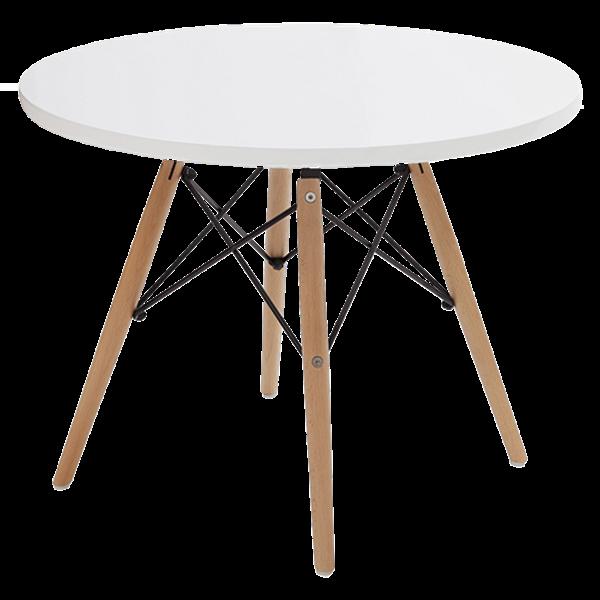 שולחן איימס עגול לבן