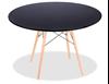 """שולחן איימס עגול שחור 70 ס""""מ"""