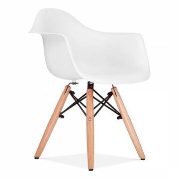 כסא איימס סגור - לבן