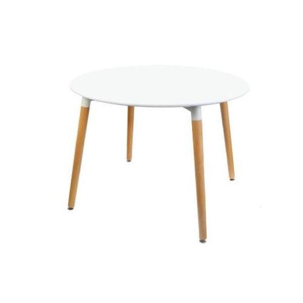 שולחן עגול לבן