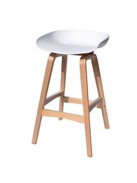 כסא בר SHELL לבן