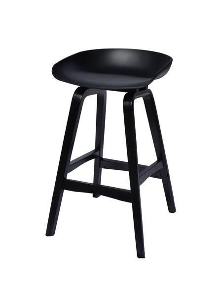 כסא בר SHELL שחור