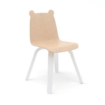 כסא ילדים דוב עץ בהיר