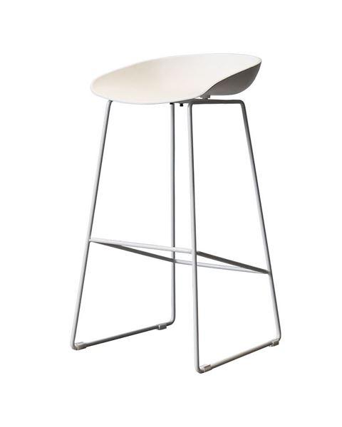 כסא בר SHELL רגל לבנה