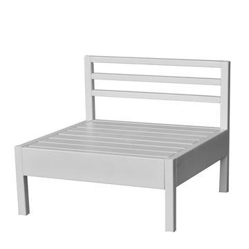 מושב L לבן - ריהוט חוץ