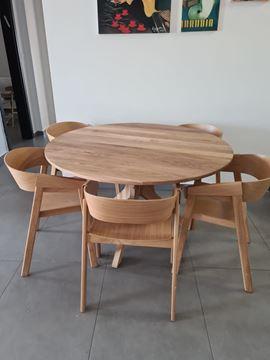 """שולחן אלון עגול נפתח 130 ס""""מ"""