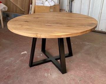 """שולחן אלון עגול נפתח 140 ס""""מ"""