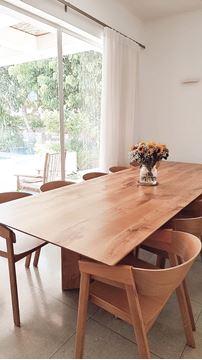 שולחן אלון רגל משולשת